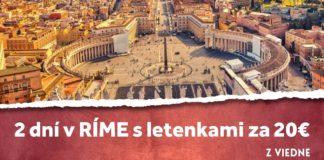 letenky z Viedne do Ríma za 20€