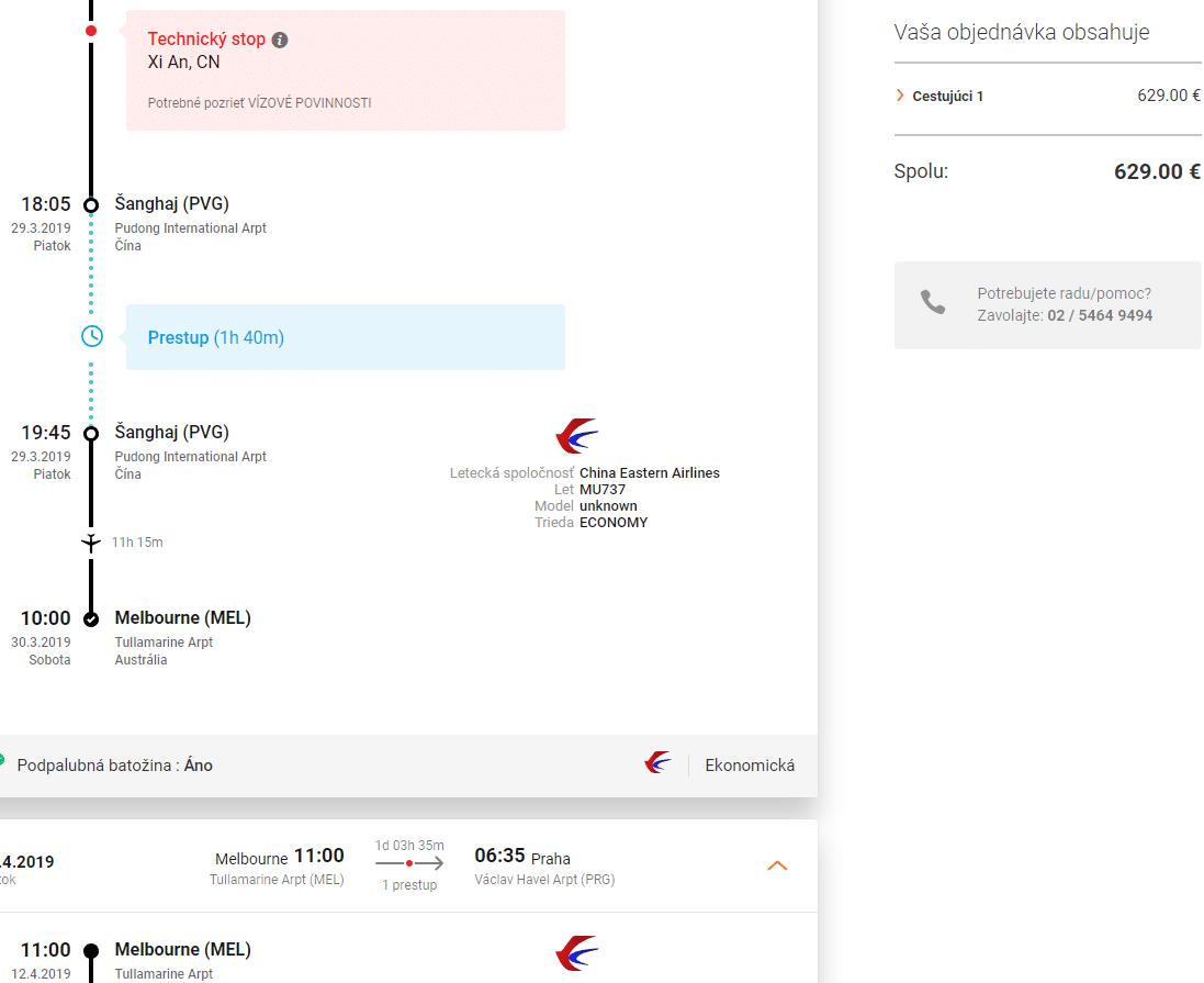 letenky z Prahy do Melbourne