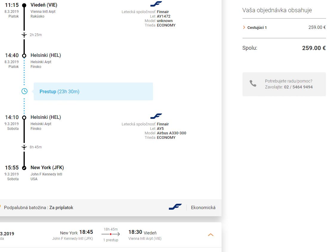 letenky z Viedne do New York