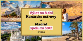 letenky z Viedne na Kanárske ostrovy a do Madridu za 58€
