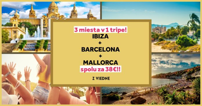 letenky z Viedne na ibizu, Barcelonu a Mallorcu