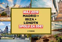letenky do Madridu, na Ibizu a do Londýna - spolu za 55€