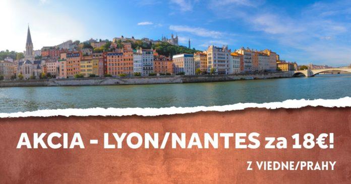 letenky do Nantes a Lyonu za 18€