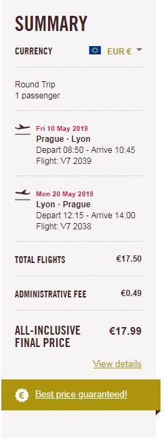 letenky z Prahy do Lyonu