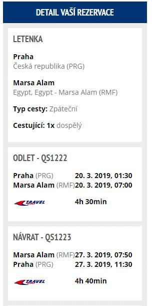 letenky z Prahy do Marsa Alam