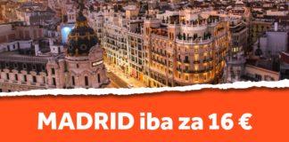 lacné letenky do madridu iba za 16 eur