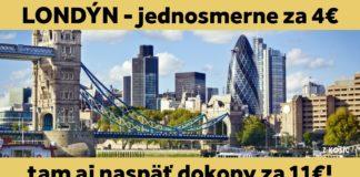letenky do Londýna za 11€