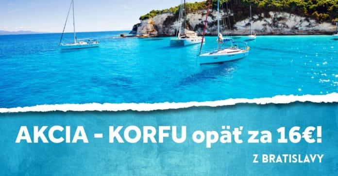 letenky z Bratislavy na Korfu