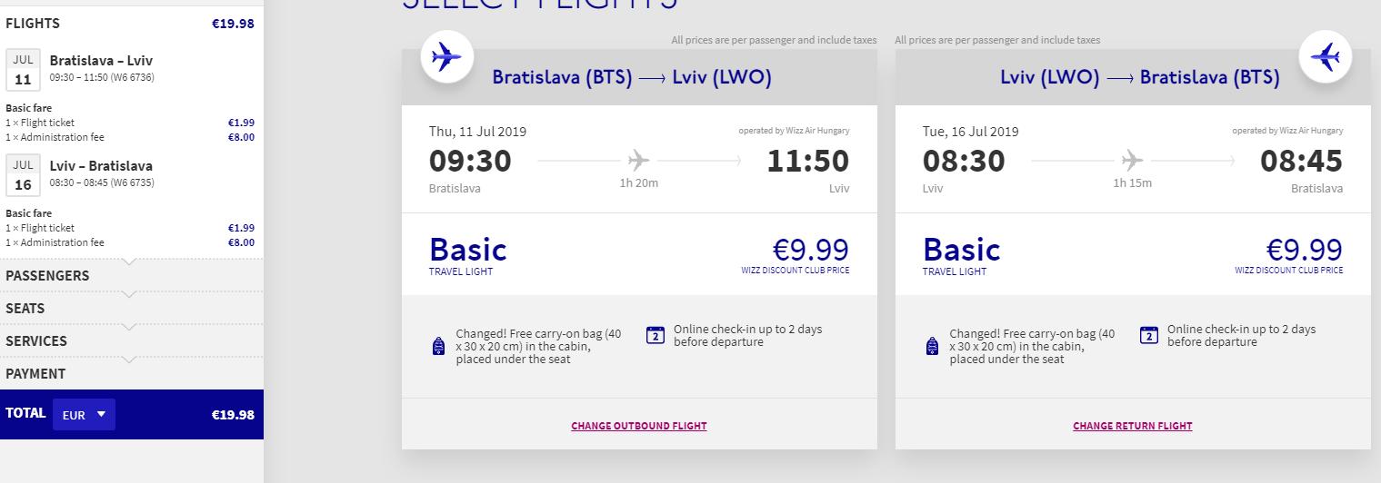 letenky z Bratislavy do mesta Lvov