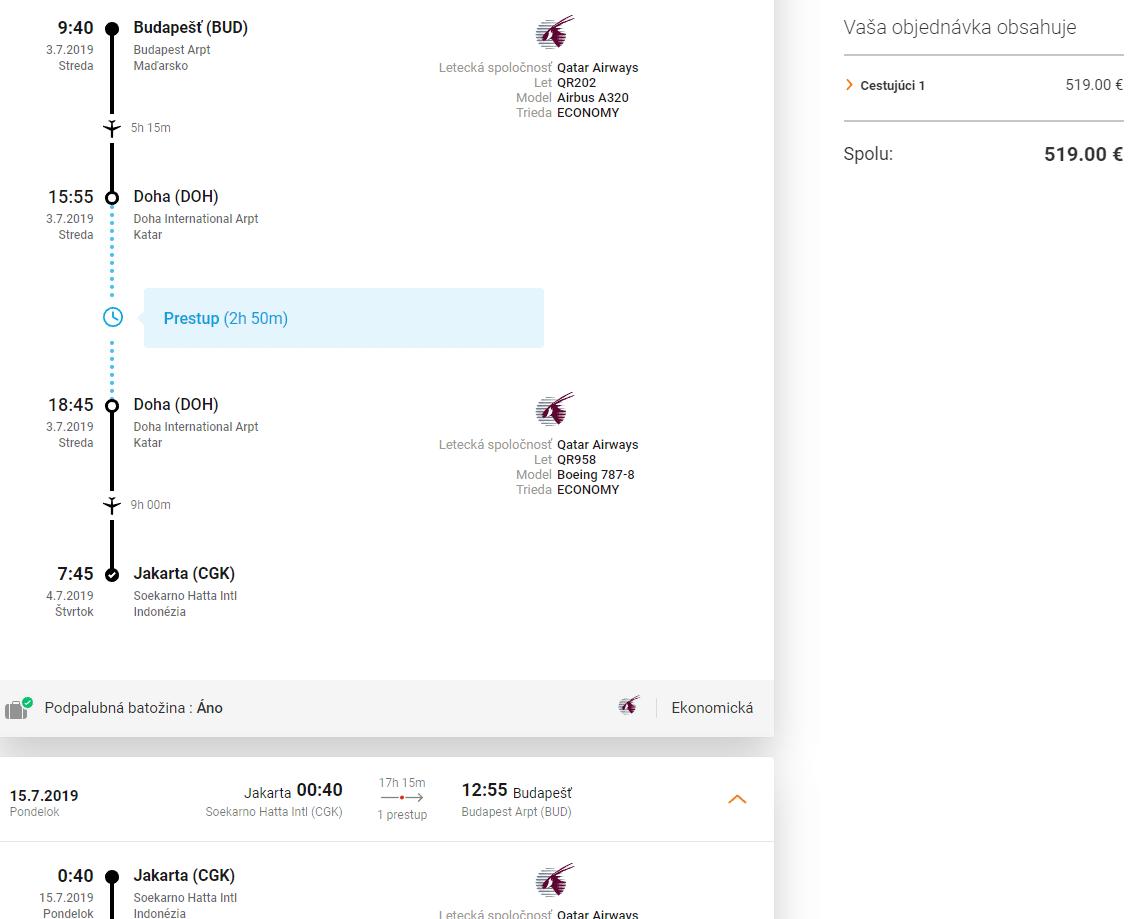 letenky z Budapešti do Jakarty