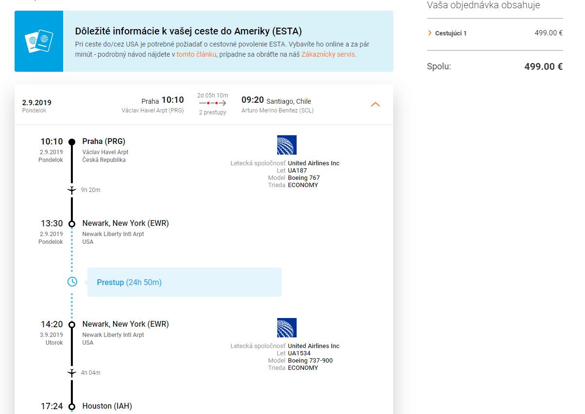 letenky z Prahy do Čile