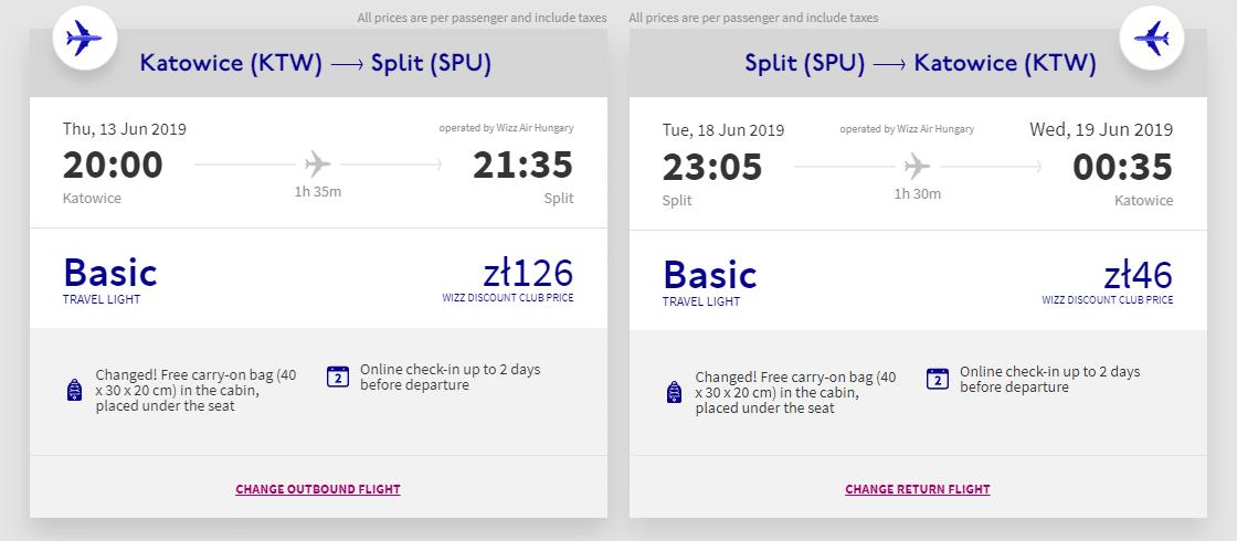letenky z Katovíc do Splitu