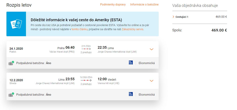 letenky z Prahy do Peru