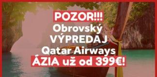 letenky do Ázie s Qatar Airways
