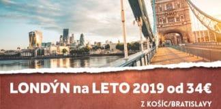 letenky z Košíc do Londýna za 34€