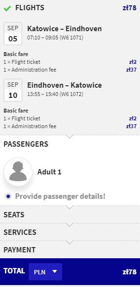 letenky z Katovíc do Eindhovenu