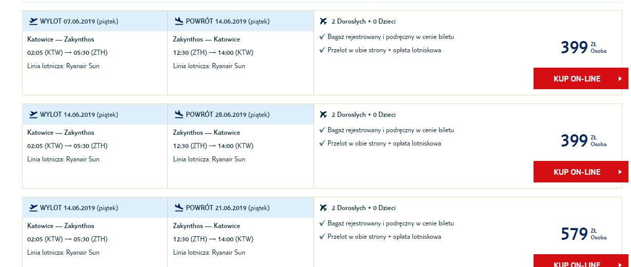 letenky z Katovíc na Zakynthos