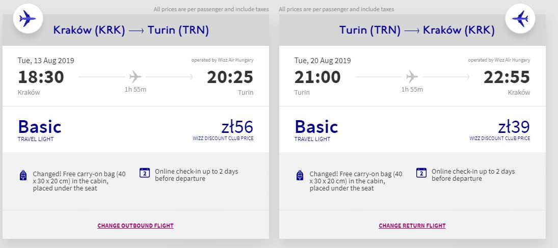letenky z Krakova do Turína