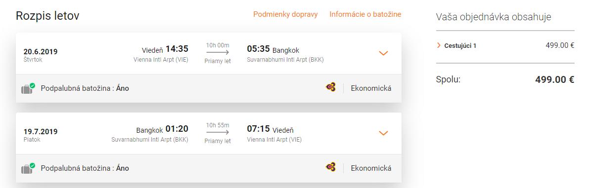 letenky z Viedne do Bangkoku