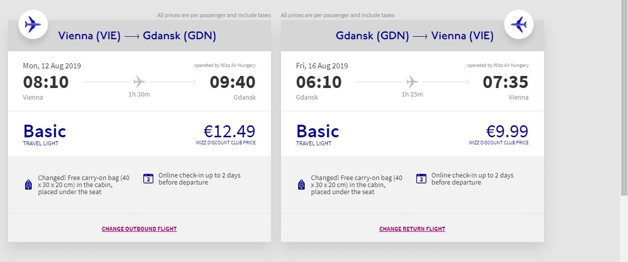 letenky z Viedne do Gdansku