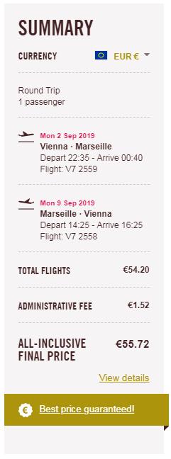 letenky z Viedne do Marseille