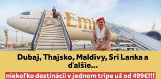 akcia emirates - multicity letenky od 499€