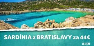 letenky z Bratislavy na Sardíniu