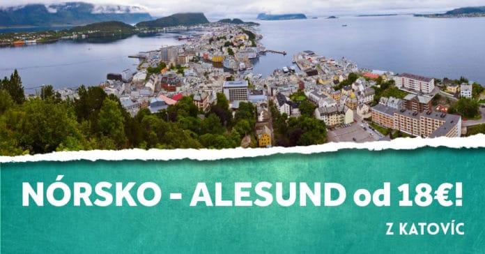 letenky z Katovíc do mesta Alesund