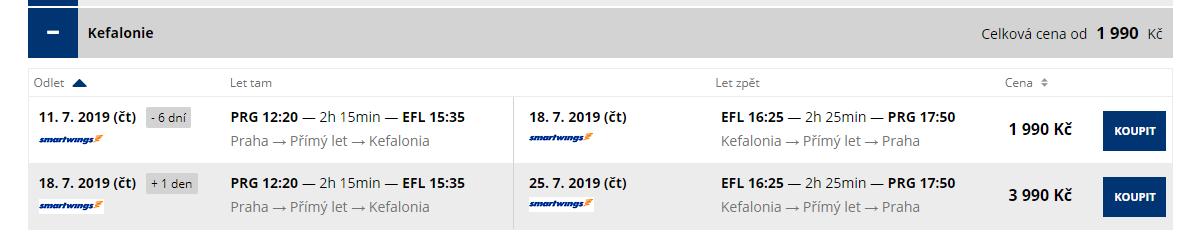 letenky z Prahy do Kefalonie