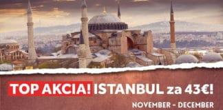 letenky do Istanbulu od 43€