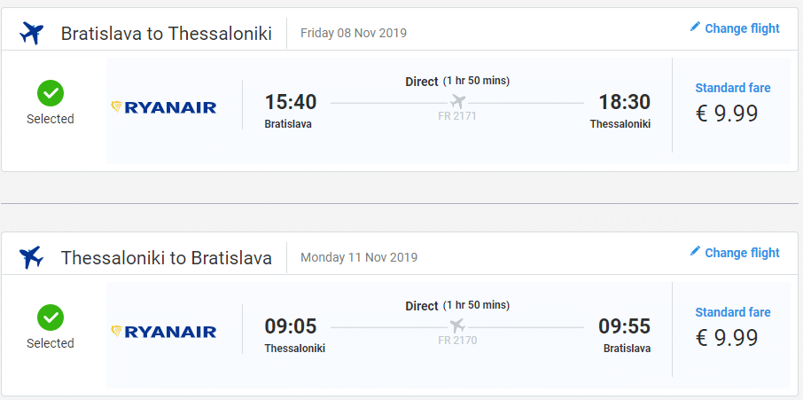 letenky z Bratislavy do Thessaloniki