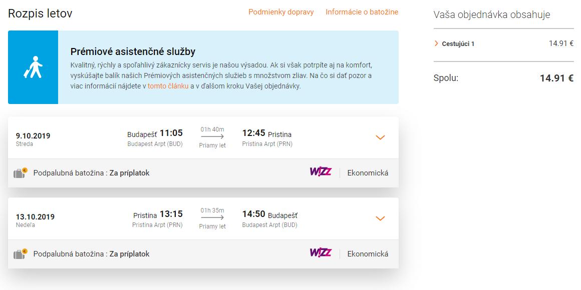 letenky z Budapešti do Prištiny