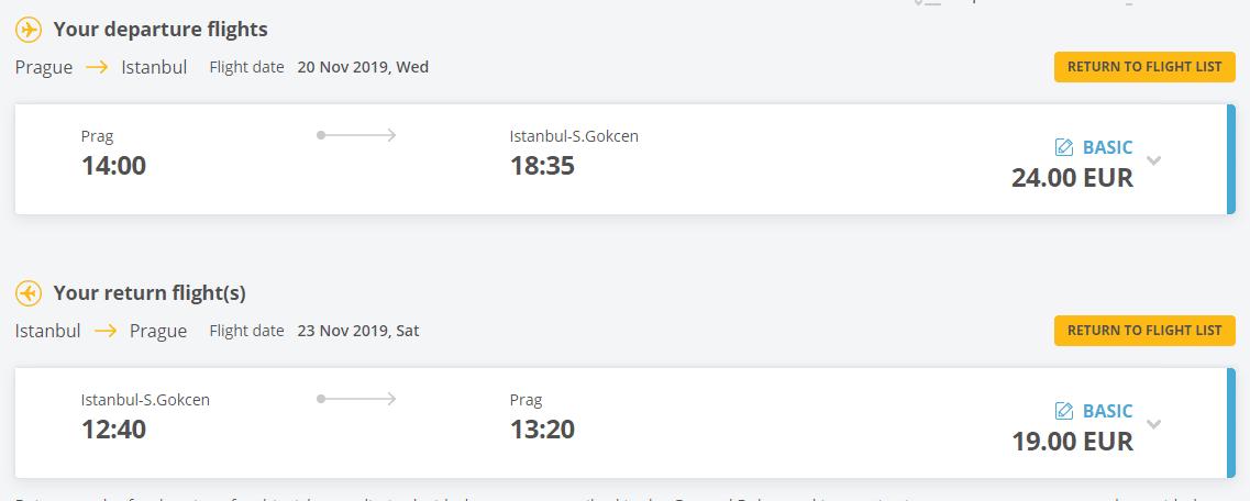 letenky z Prahy do Istanbulu