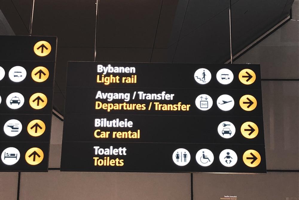 z letiska do Bergenu