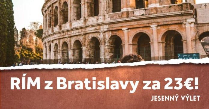 letenky z Bratislavy do Ríma