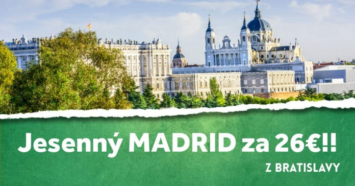 letenky z Bratislavy do Madridu