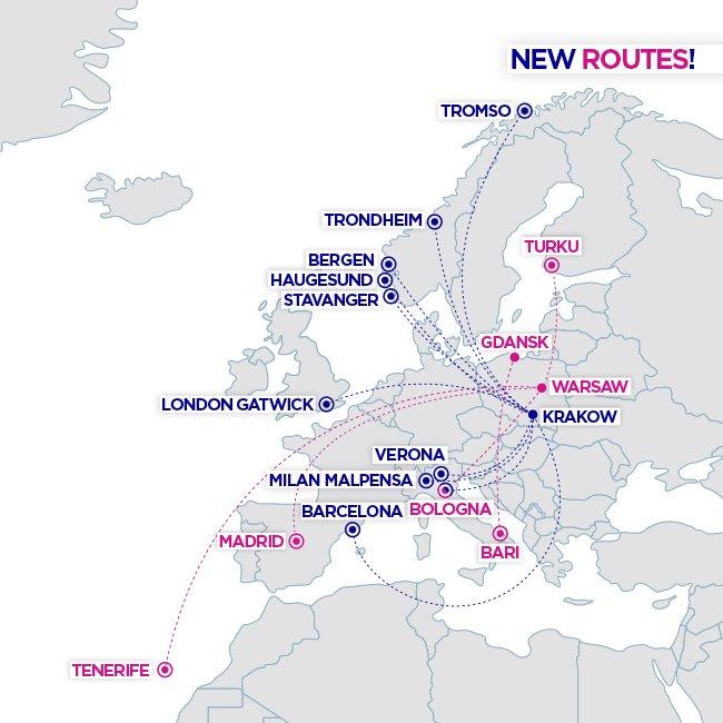 nové linky z Krakova