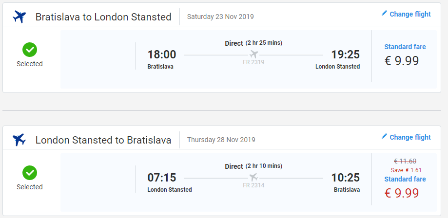 letenky z Bratislavy do Londýna