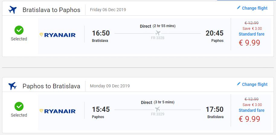 letenky z Bratislavy na Paphos