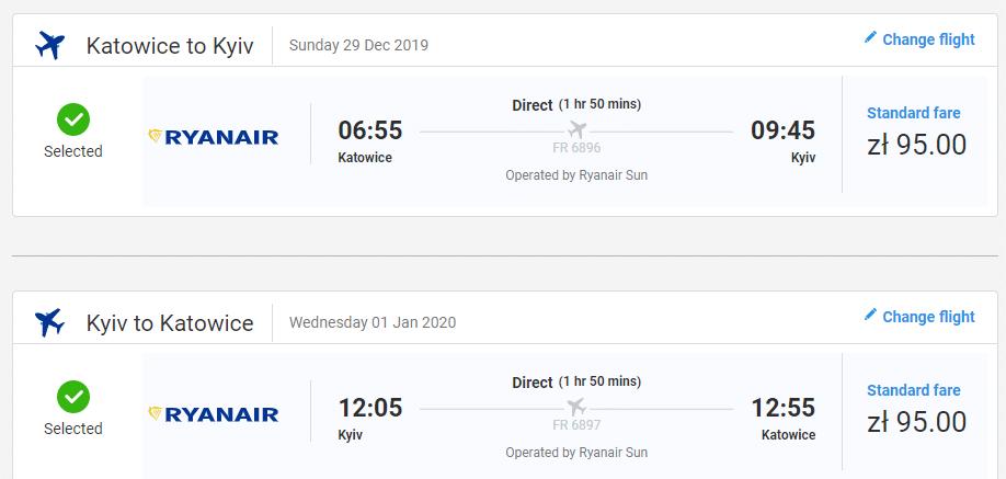 letenky z Katovíc do Kyjeva