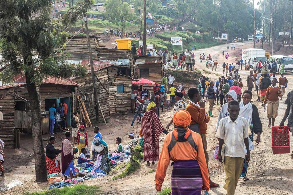 ľudia v Rwande v Afrike