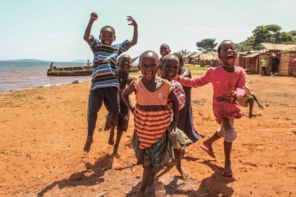 Štastné deti v Rwande