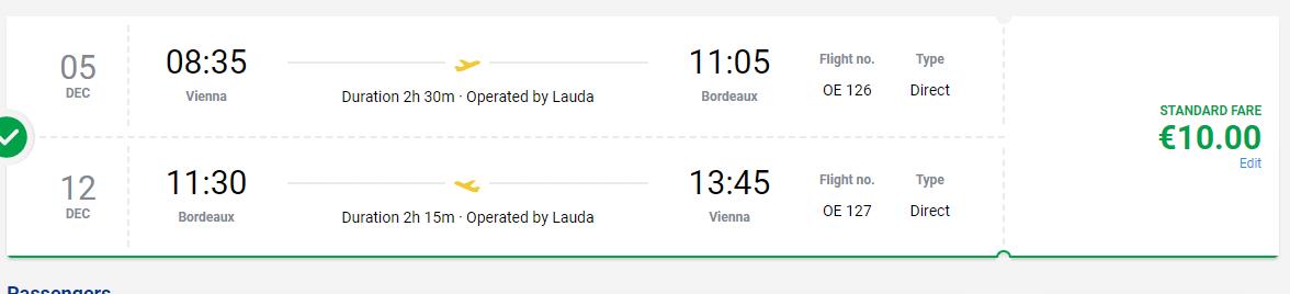 letenky z Viedne do Bordeaux