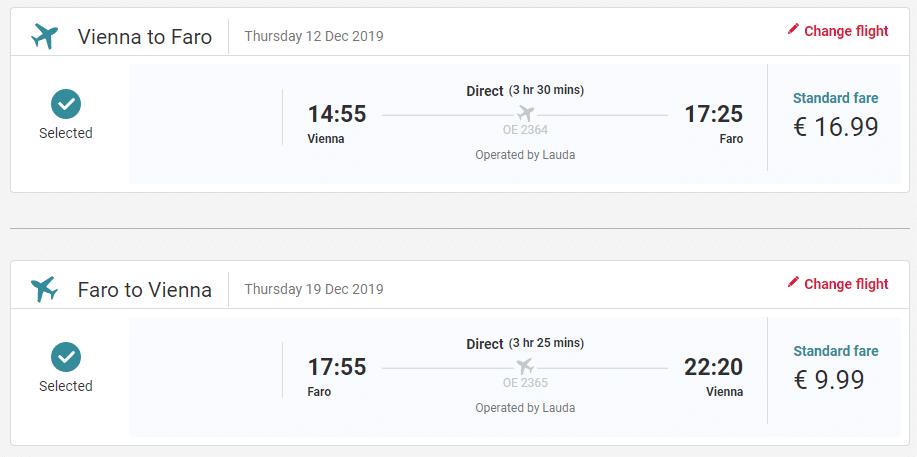 letenky z Viedne do Portugalska