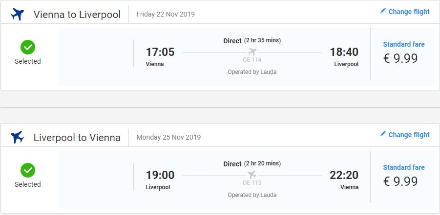 letenky z Viedne do Liverpoolu