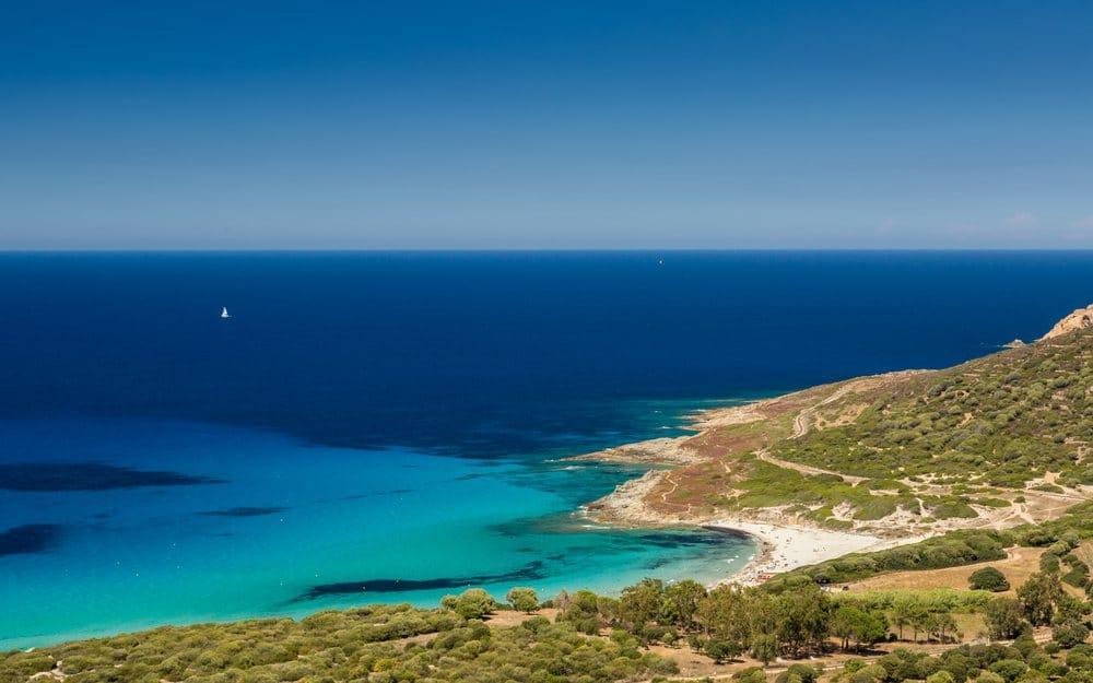 bodri pláž Korzika