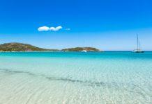 pláž na Korzike