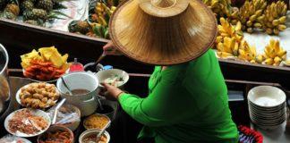 Thai woman on boat