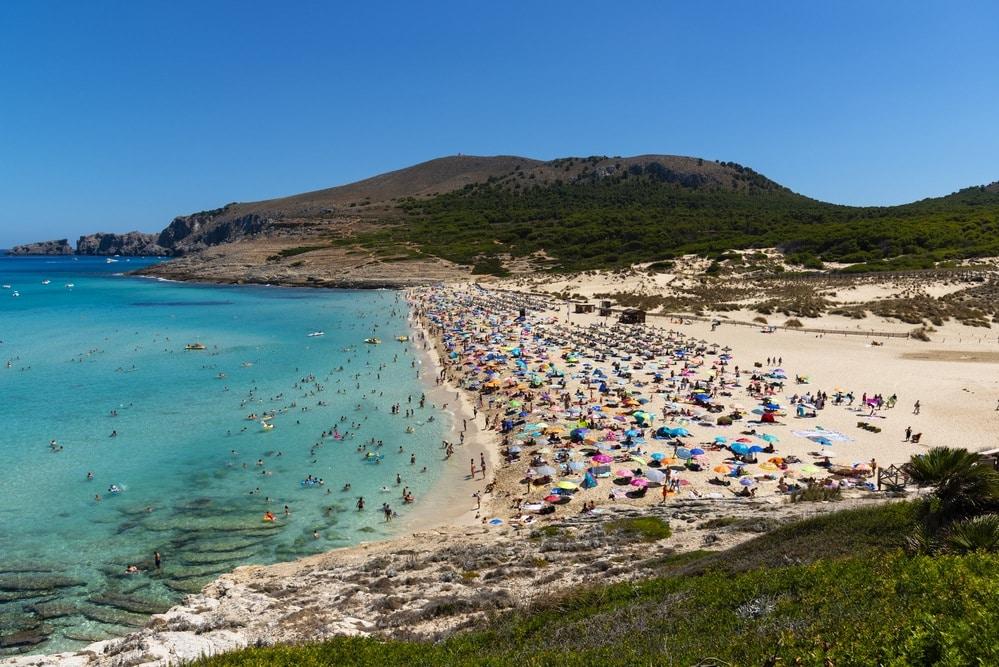 Pláž Cala Mesquida Malorka