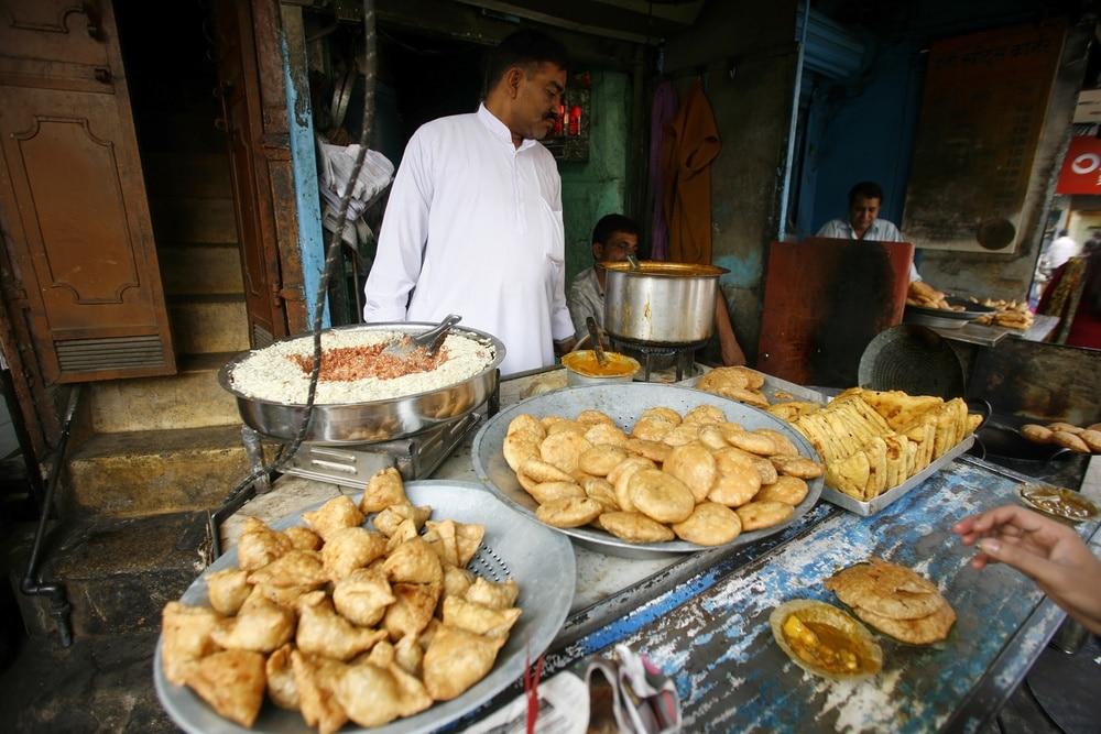 indický street food